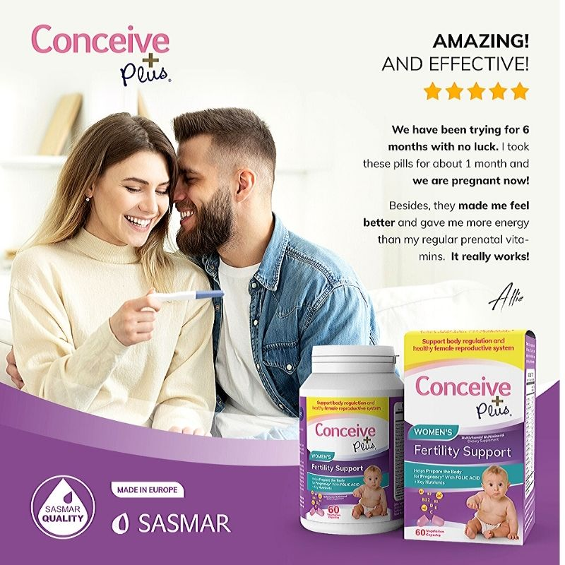Conceive Plus Womens Fertility Support 60 Caps (6 units)