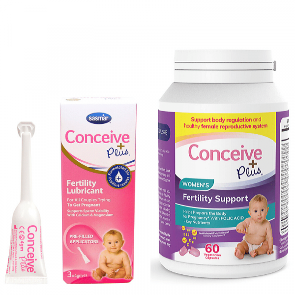 Conceive Plus Womens Fertility Support 60 Caps + 3 Lubricant Applicators (GB)
