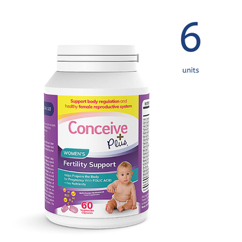 [19337213007082] Conceive Plus Womens Fertility Support 60 Caps (6 units) (GB)