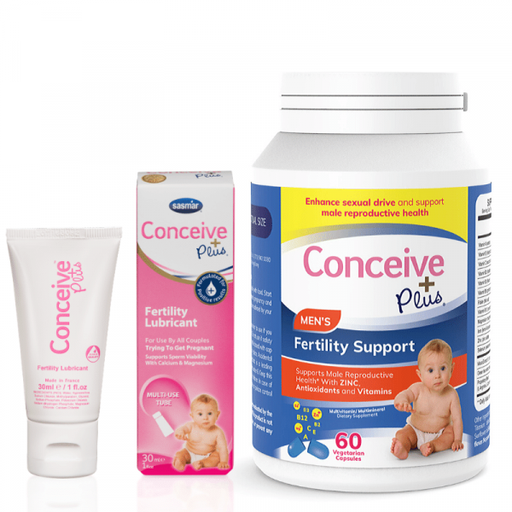 [CMB87941] Conceive Plus Men's Fertility Support 60 Caps + 30ml Lubricant (GB)